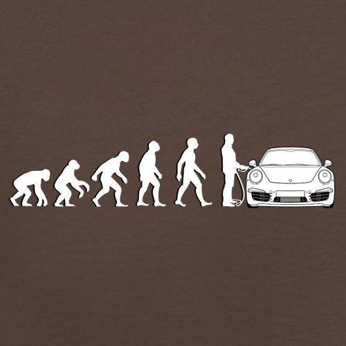 Evolution of Man - 911 Fahrer - Herren T-Shirt - Schokobraun - L