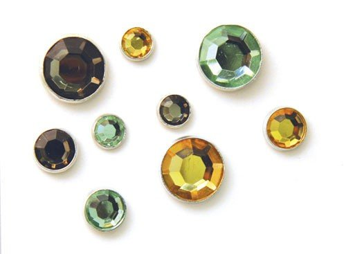 Karen Foster Design Sparkle Brads Rhinestone Embellishments, 24 Love Colors by Karen Foster Design