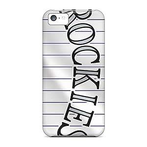 Iphone 5c JHo7899JmBe Provide Private Custom Realistic Colorado Rockies Image Bumper Cell-phone Hard Covers -LauraAdamicska