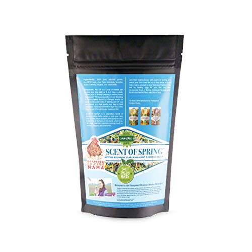 Nesting Herbs for Backyard Chickens - Scent of Spring - Keep Laying Hens Happy, Healthy and Relaxed (20 Ounce) from Pampered Chicken Mama