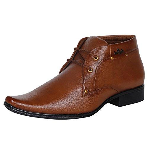 Kraasa Men's Tan Leather Formal Shoes