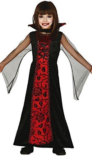 Girls Countess Dracula Vampire Traditional Transylvania Fantasy Halloween Horror Fancy Dress Costume Outfit 3-12 Years (3-4 Years)