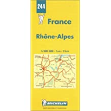 Michelin Rhone-Alpes, France Map No. 244 (Michelin Maps & Atlases) by Michelin Travel Publications (1999-06-01)