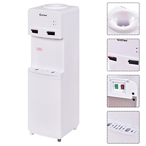 Fantastic Deal! Costway 5 Gallon Water Cooler Dispenser Top Loading Freestanding Water Dispenser w/ ...
