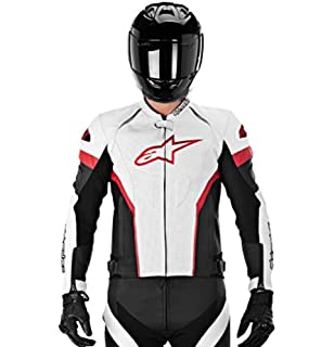 Alpinestars GP Plus R Perforated Perforated Mens Leather Motorcycle Jackets - Black/Red/White
