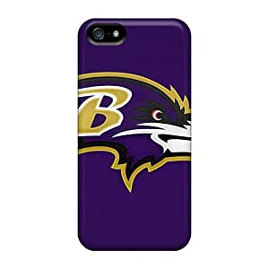 Bumper Hard Cell-phone Cases For Iphone 5/5s (nFl18172sLkE) Allow Personal Design High-definition Baltimore Ravens Series