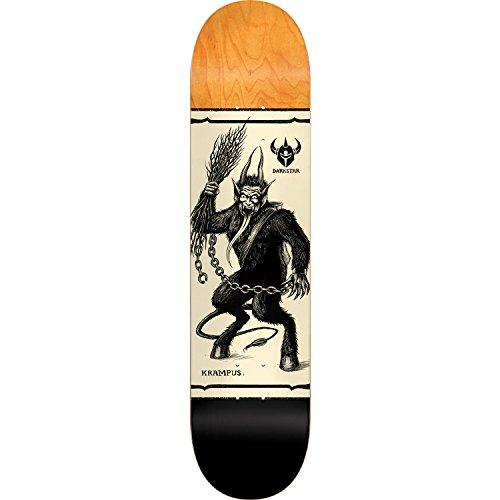 アミューズ戦闘署名DarkstarスケートボードKrampusブラックスケートボードデッキ – 8.125 X 31.8」