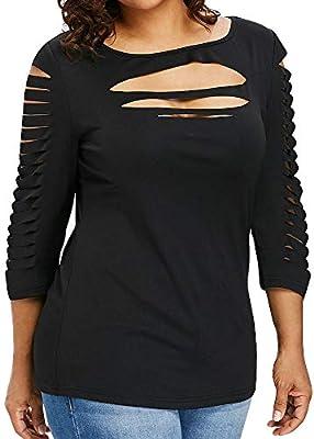 Ronamick Camisetas De Lentejuelas Mujer Hermoso Blusa Elegante Mujer Tops Mujer Fiesta Lentejuelas Hermoso Camisa Seda Mujer (Negro,L): Amazon.es: Hogar