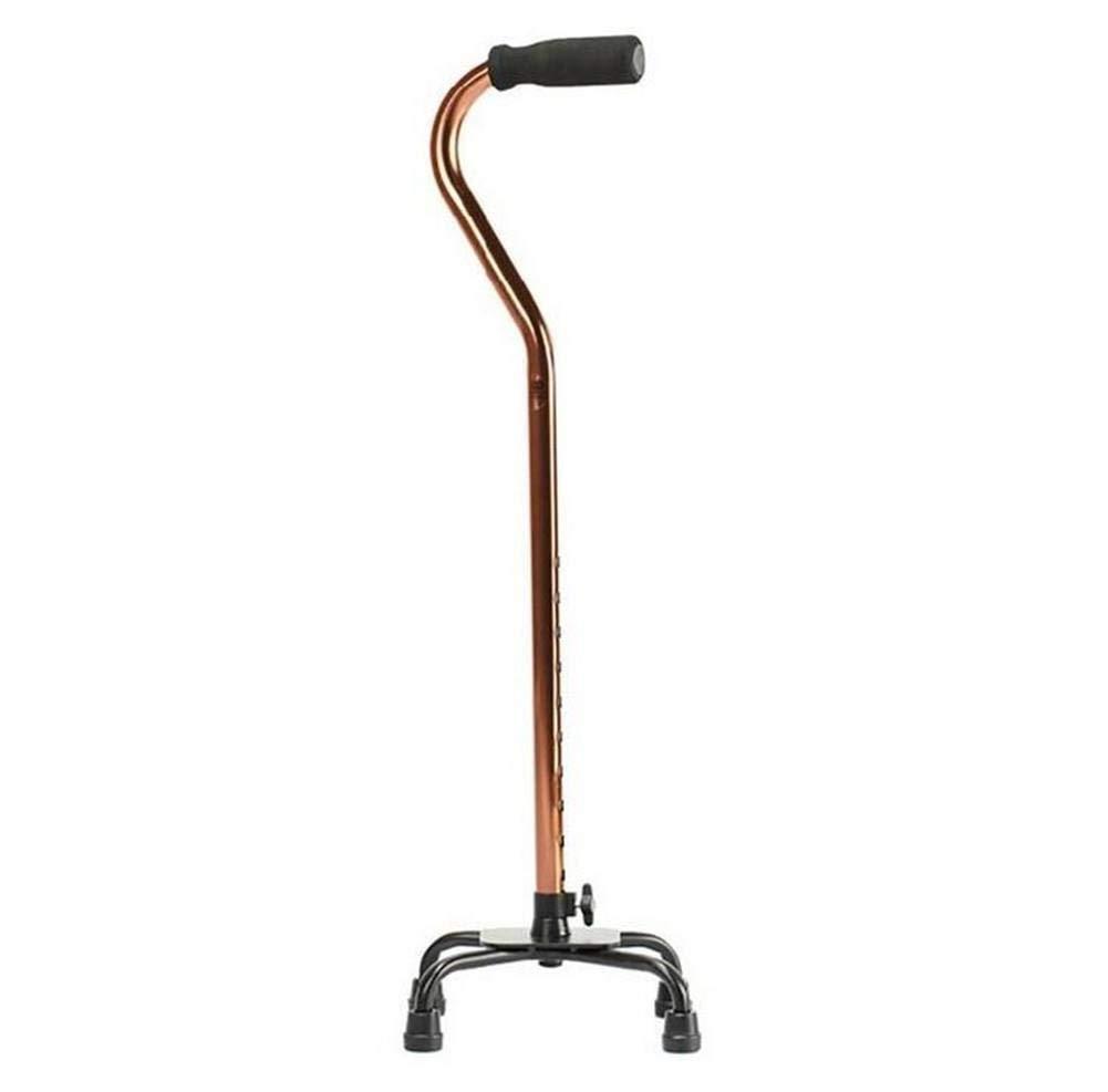 【代引き不可】 松葉杖調整可能歩行松葉杖老人松葉杖滑り止めアルミ合金四脚付箋高齢者引き込み式杖 (茶色)   B07MH4W8X4, スタイルキッチン:409273f5 --- a0267596.xsph.ru