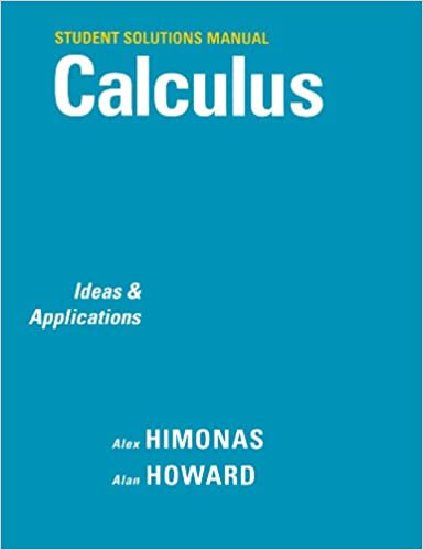 Student's solution manual to accompany calculus third edition.