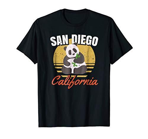 San Diego Shirt-Retro Panda Zoo-California State T Shirt