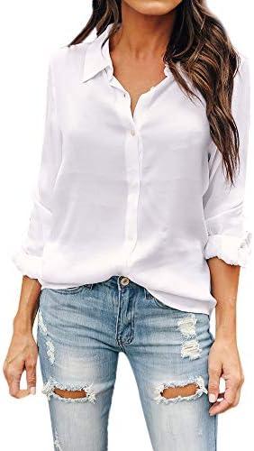 Rcool Camiseta Camisetas Tops y Blusas Camisetas Mujer Manga Corta Camisetas Deporte Mujer Camisetas Mujer, Manga Larga botón de Solapa Tops: Amazon.es: Ropa y accesorios