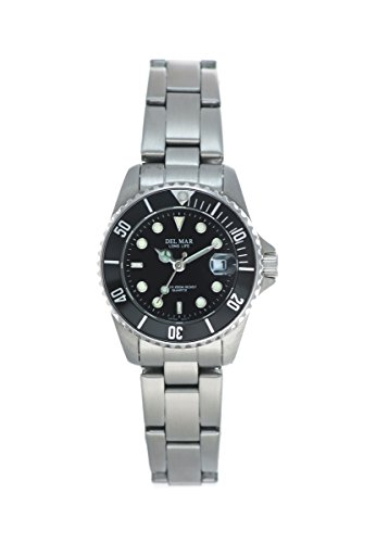 Midsize Stainless Dive Watch - Stainless Del Mar Dive