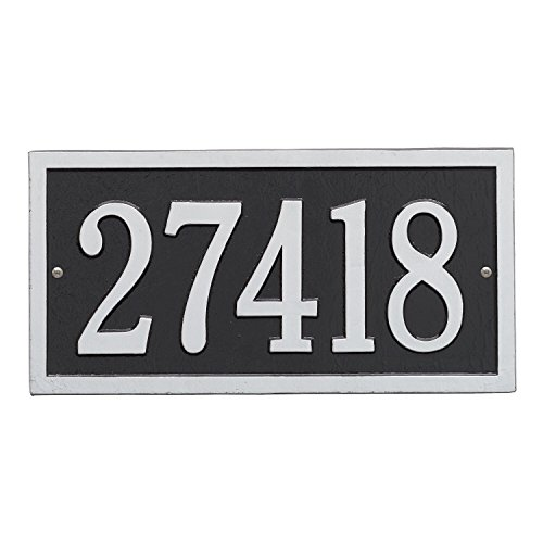- Customized 1 Line Bismark Aluminum Address Plaque 14.63