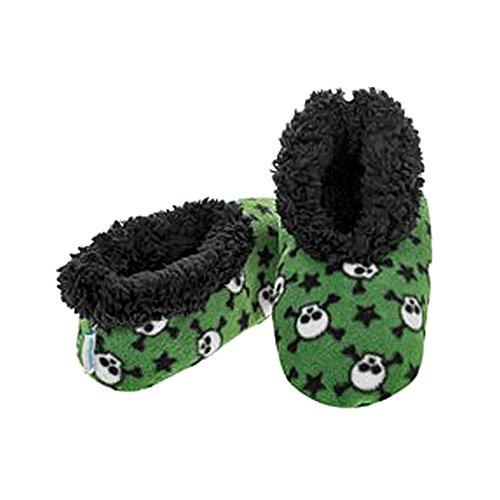 Smiffys–Zapatillas Snoozies varios diseños, tamaño pequeño, mediano y grande calaveras