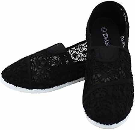 9d766c0ea015b Enimay Women's Cotton Canvas Casual Slip On Fashion Shoe Flats Espadrilles