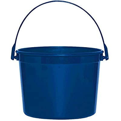 Plastic Bucket | Royal Blue | Party Accessory: Toys & Games