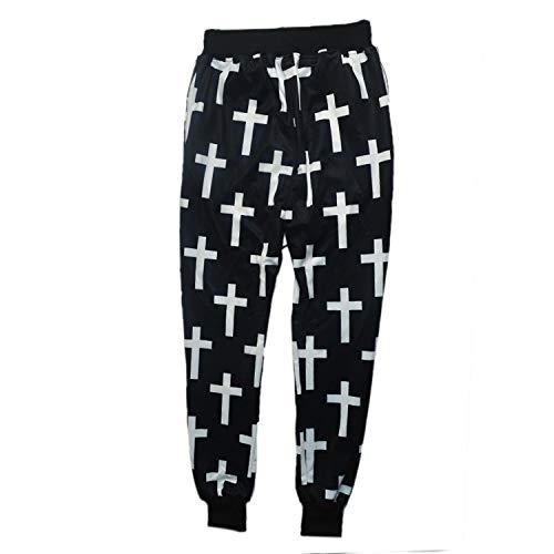 Harajuku Style Print The Cross Pattern Jogger Casual Suelta Hip ...