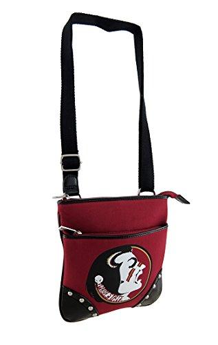 Canvas Womens Cross Body Bags Florida State University Fsu Seminoles Canvas Crossbody Purse (State University Ladies Purse)