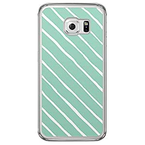 Loud Universe Samsung Galaxy S6 Edge Confetti Stripe Transparent Case - Green