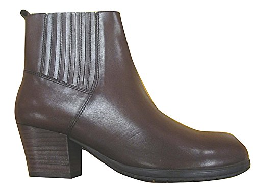 Foster Footwear Ladies Gluv Faux Leather Pull On Mid Block Heel Fashion Chelsea Ankle Boots Size 4-8 Brown m2stV
