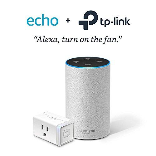 Echo (2nd Generation) – Sandstone with TP-Link Smart Plug Mini