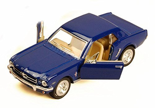 Kinsmart 1964 1/2 Ford Mustang, Blue 5351D - 1/36 Scale Diecast Model Toy Car, but NO Box ()
