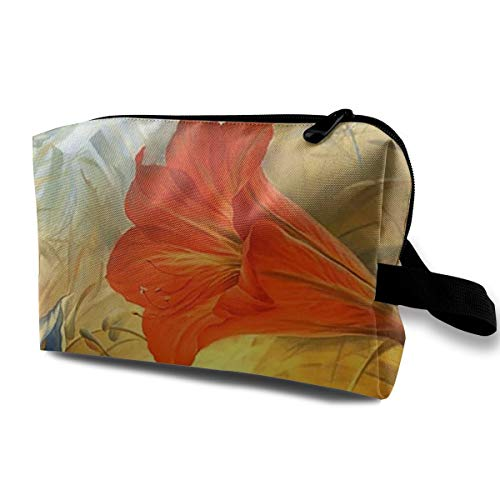 Surreal Art Flowers Cosmetic Bags Makeup Organizer Bag Pouch Zipper Purse Handbag Clutch Bag