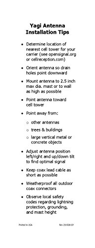 Proxicast 9/11 dBi Ultra Broadband LPDA High Gain 3G / 4G /  LTE/xLTE/Wi-Fi/Public Safety Band Fixed Mount Directional Antenna