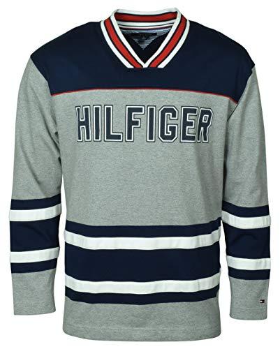 Tommy Hilfiger Men's V-Neck Colorblocked Cotton Hockey Jersey - XL - ()
