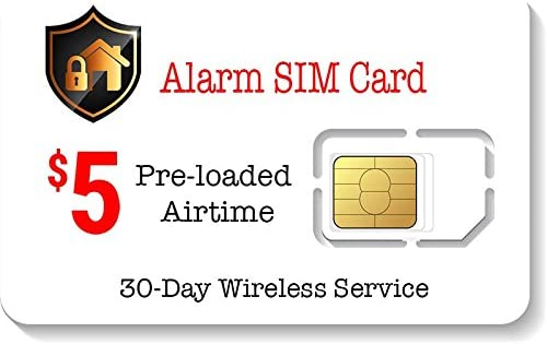 Amazon.com: Tarjeta SIM prepaga con alarma, para sistema de ...