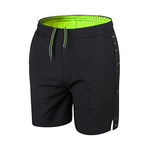 "5"" Running Shorts,Men's Running Shorts by Athmile,Workout Training Shorts for Men,Men's Mesh Quick Dry Shorts Black"