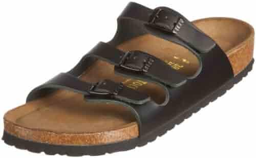bd3b267c240b Birkenstock Women s Florida Soft Footbed Birko-Flor Black Sandals - 36.0 N  EU