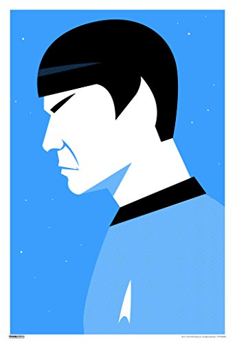 Star Trek Spock Profile 50th Anniversary TV Show Poster