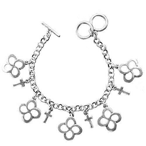Swirl Cross Faith Gear Women's Silver Christian Bracelet