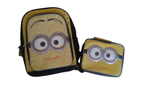 Minions Movie Mellow Yellow 16 Backpack & Matching Insulated Lunch Kit by BrickBrats Gift Bundle