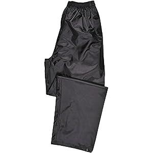 Portwest S441 Rainwear Men's Waterproof Rain Pants, Large, Black