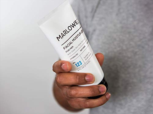 41FrnhIz8LL - MARLOWE. No. 123 Men's Facial Moisturizer 6 oz | Lightweight Daily Face Lotion for Men | Best for Dry or Oily Skin | Made with Natural Ingredients & Anti-Aging Extracts