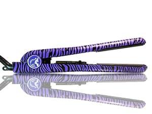 Procabello 100% Ceramic Classic Purple Zebra Flat Iron / Hair Straightener