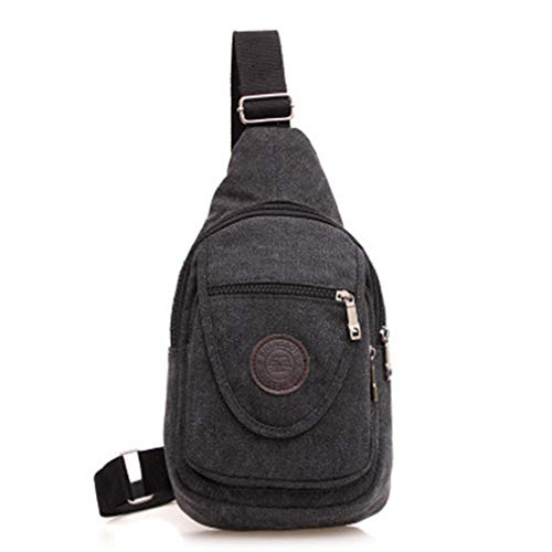Nylon Oanvasthest Bag Shoulder Strap Crossbody Waterproof Pack Men Black Casual Messenger Bags D Chest Single For qgvrYng7