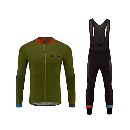 Uglyfrog 2018 Men's Spring & Summer Breathable Long Sleeve Cycling Jersey and 3D Silicone Padded Pants Set Outfit SPIFY15]()