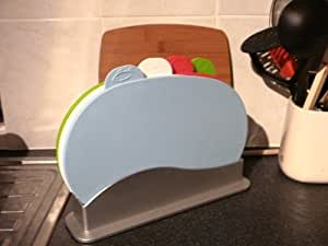 UNIQUE DESIGN 4 COLOUR CODED CHOPPING BOARD SET by Other