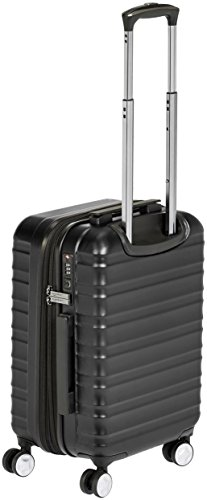 92ecdd8c9439 AmazonBasics Premium Hardside Spinner Luggage with Built-In TSA Lock -  20-Inch Carry-on, Black