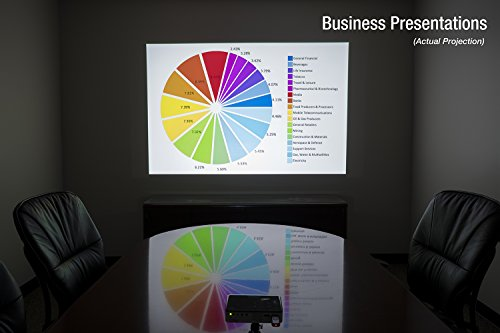 AAXA P300 Neo LED Video Projector - Supports 1080p for computers, smartphones, home theater, business presentations with HDMI/Mini VGA/USB/microSD Inputs, 3.5mm Aux Out, and up to 2.5hr Battery by AAXA Technologies (Image #5)