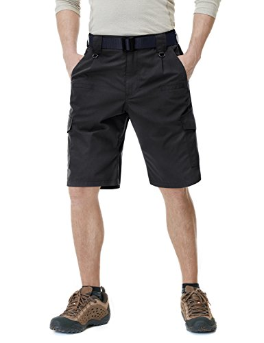 (CQR Men's Tactical Lightweight Utiliy EDC Cargo Work Uniform Shorts, Tactical Shorts(tsp203) - Black, 42)