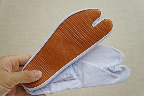 モスク医薬品一祭用品 祭り足袋ゴム底 白 濃紺 (25.0, 白)