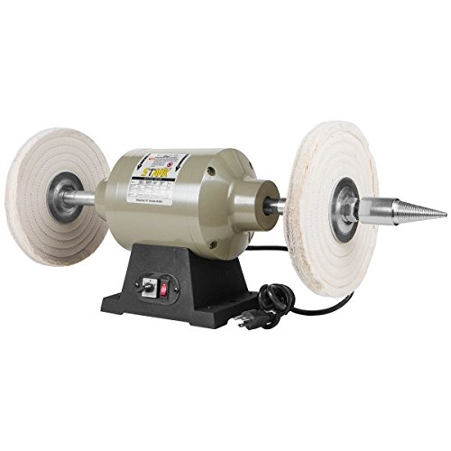 "XtremepowerUS 10"" Benchtop Buffer Electric Grinder Jewelry Polisher Wheel Dual-Speed Polishing Buffing 1HP Machine (10-inch)"