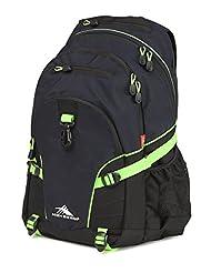 High Sierra 53646-4966 Loop Backpack, Midnight Blue/Black/Lime, International Carry-On