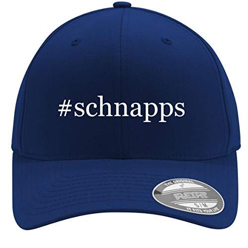 #Schnapps - Adult Men's Hashtag Flexfit Baseball Hat Cap, Blue, Large/X-Large