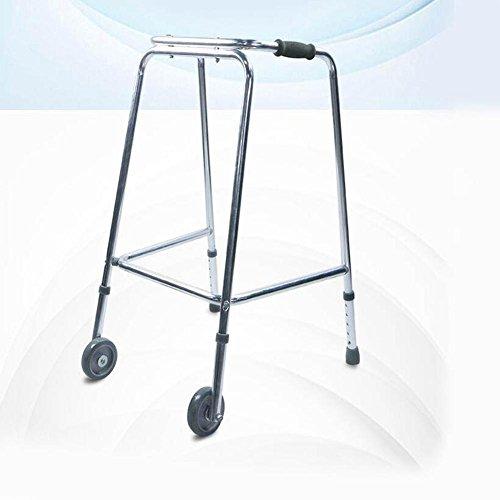 Auxiliary Rail (WANGJINLI Walker Aluminum Alloy Comfortable Handrail Height Adjustable Belt Wheel Medical Rehabilitation Auxiliary Equipment)